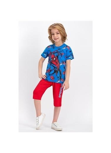 Riccotarz Erkek Çocuk Lisanslı Spider-Man Yarım Kol Mavi Takım Mavi